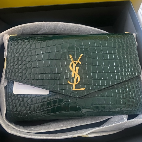 Green croc YSL bag (FIRST PIC IS WITHOUT FLASH)